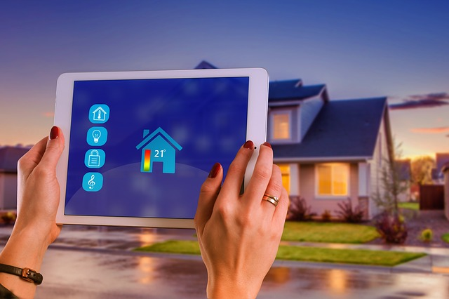 """Smart Home"" representation with the use of an iPad"