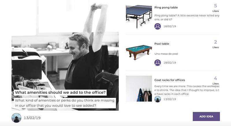 Screenshot of the navigation of ideas in IdeaSource