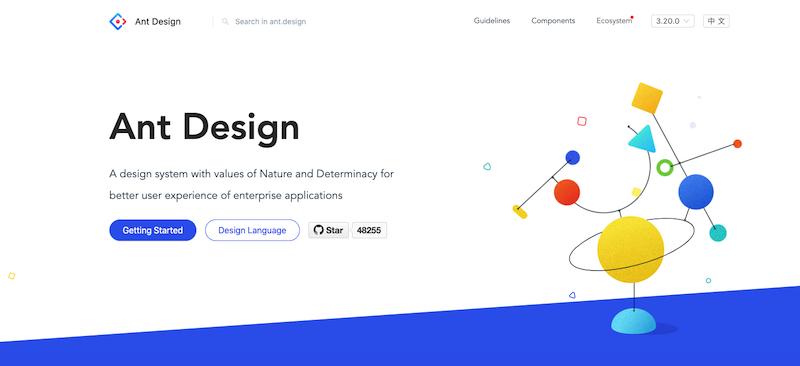 Ant Design screenshot