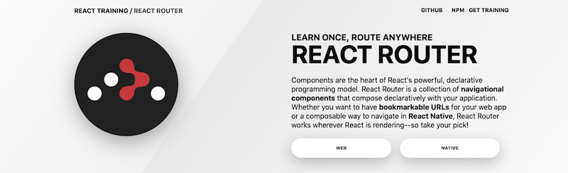 React Router screenshot