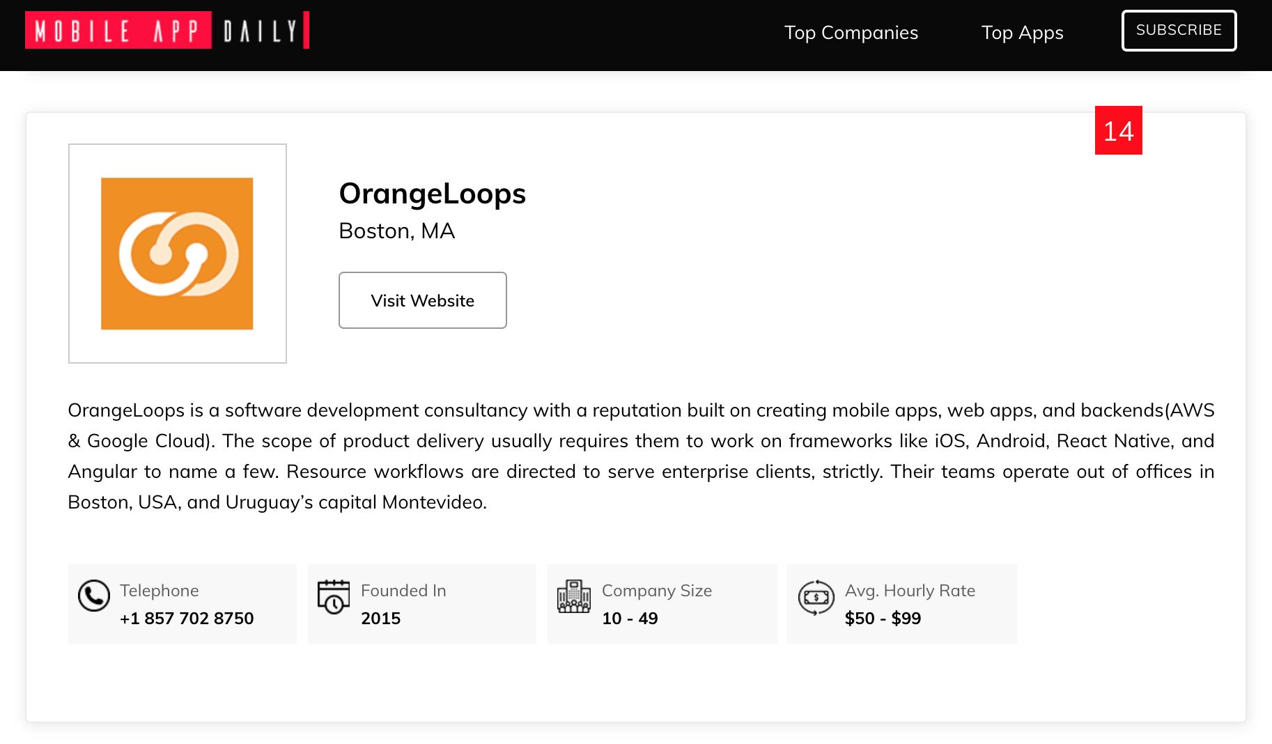 OrangeLoops Top App Developer Boston
